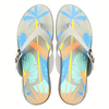 Good Quality Printed Insole EVA Wedge Flip Flops