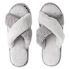 Soft Fleece X Strap Home Slippers